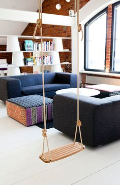Lillagunga - reinvented wooden swing chair. Finnish design.