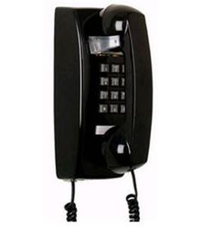 Black Retro Wall Mountable Hanging Telephone Phone Bell Ringer Vintage 25402 #Cortelco