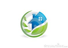 Circle home plant logo,house building,architecture,real estate nature symbol icon design vector logotype - http://www.dreamstime.com/stock-photography-image49693519#res7049373