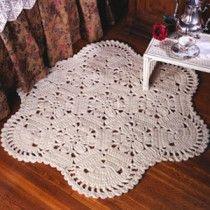 Floral Hexagon Rug Crochet ePattern