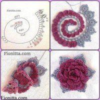 háčkovaná květina