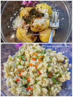 Aloo pie is fried dough filled with savory mashed potatoes that's seasoned simply with bandhania (culantro), cumin, onion and garlic. Veggie Recipes, Indian Food Recipes, Vegetarian Recipes, Ethnic Recipes, Veggie Meals, Aloo Pie, Caribbean Recipes, Caribbean Drinks, Cookbook Recipes