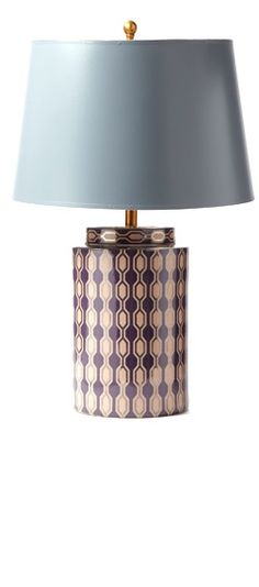 British Celebrity Interior Designer Kelly Hoppen Limited Production Purple Porcelain Tea Jar Lamp, so beautiful, inspire your friends and followers interested in luxury interior design, with new trending accents from Hollywood courtesy of InStyle Decor Beverly Hills, Luxury Designer Furniture, Lighting, Mirrors, Home Decor & Gifts, over 3,500 inspirations to choose from and share with our simple one click Pinterest Pin button enjoy & happy pinning