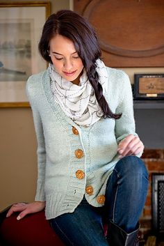 Cute look. Ravelry: Fable Cardigan patter