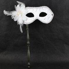 masquerade masks with stick | on a stick ebay | masquerade mask