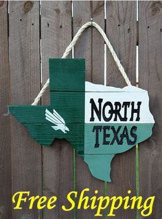 Items similar to Rustic Wooden University of North Texas - Texas Shaped Flag Door/Wall Hanging on Etsy Homecoming Decorations, Dorm Decorations, Wood Crafts, Diy Crafts, Canvas Crafts, Texas Home Decor, Texas Crafts, University Of North Texas, Wood Flag