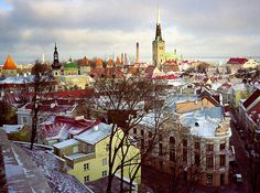 Tallinn in Winter - I keep looking at this thinking I can't believe this is a photo and not a painting.