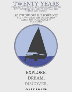 One day I will sail away