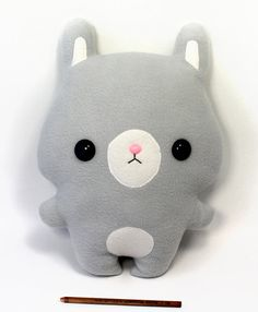 "Cute Plushie Pillow Bunny Rabbit 15"" Soft Doll - Large Handmade Cuddly Plush Toy"