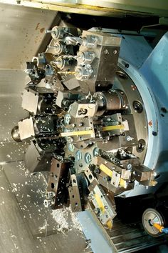 Amazing cnc lathe turret with lots of  tooling