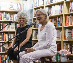 """REDGRAVE AND ZACKHEIN UNITE Actress Vanessa Redgrave (r.) hosted a reading and Q&A for """"Last Train to Paris,"""" a novel by Michele Zackheim (l.), at New York's McNally Jackson Bookstore on June 23."""