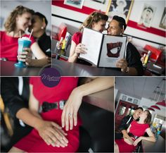 old diner engagement photo - Google Search