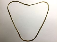 "Vintage Sterling Silver Gold Plate Herringbone Chain Necklace 20"" Long! 3mm Wide #NecklaceChain"