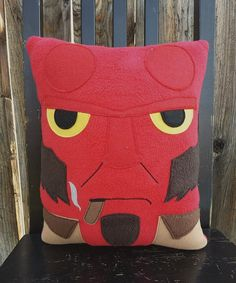 Hey, I found this really awesome Etsy listing at https://www.etsy.com/listing/202979105/hellboy-pillow-plush-cushion
