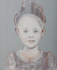 Meisjes aan witte tafel door Edith Snoek, Alphen aan den rijn