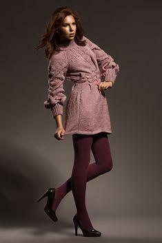 Pletené růžové šaty – MOLO7 High Neck Dress, Sweaters, Dresses, Fashion, Turtleneck Dress, Gowns, Moda, Fashion Styles, Sweater