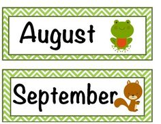 Forest/Pond themed classroom Big Calendar