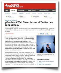 Hablando sobre la salida a bolsa de Twitter, en Finanzas.com