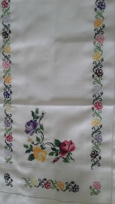 Ribbon Embroidery, Embroidery Designs, Hobbies And Crafts, Cross Stitch Patterns, Crochet, Handmade, Cross Stitch Borders, Poppies, Herb