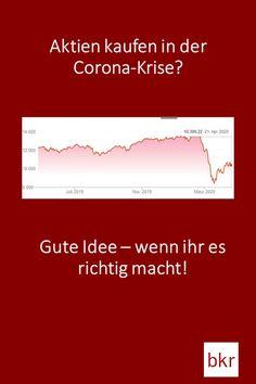 Aktien kaufen während der Coronakrise – das ist grundsätzlich eine gute Idee! Chart, Corona, Saving Money, Earn Money, Retirement Savings Plan, Money Plant, Play Money