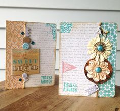"Homespun Kit ""Thanks a Bunch"" cards by Lisa Day"