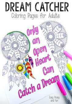 Dream Catcher Coloring Pages for Adults - Easy Peasy and Fun
