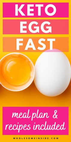Try this simple keto egg fast. You can easily lose weight with this simple meal plan and recipe guide. Check out how to lose weight easily on the keto diet. Egg Recipes, Paleo Recipes, Recipies, Easy Meal Plans, Keto Meal Plan, Keto Egg Fast, Recipe Guide, Keto Supplements, Fast Easy Meals