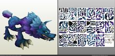 Papercraft .pdo file template for League of Legends - Wolf.