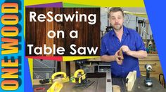 Resawing on a table saw tips with a Microjig Grr-Ripper, Woodworking safety