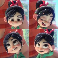 Oh my goodness, I love her more in the second movie because they made her more cute! Funny Phone Wallpaper, Cute Disney Wallpaper, Cute Wallpaper Backgrounds, Cute Disney Characters, Girl Cartoon Characters, Panda Wallpapers, Cute Cartoon Wallpapers, Frozen Poster, Vanellope Y Ralph