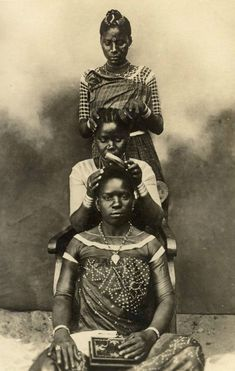 Hair Dressing Coast Natives Indigenous African Women ■ Swahili Coast ca. African Hairstyles For Kids, African Braids Hairstyles, Dreadlock Hairstyles, Black Hairstyles, Vintage Hairstyles, African Culture, African History, African Beauty, African Women