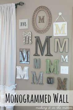 monogrammed wall a post from the blog making it in the mitten written by melanie muszynski on bloglovin