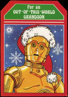 For an Out of this World Grandson Star Wars Christmas Card