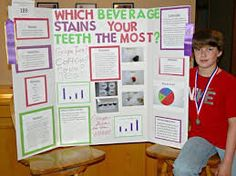 """Dylan Petsche recently attended the Southern Minnesota Regional Science Fair held at Minnesota State Mankato. His project, """"Which Beverage Stains Your Teeth The Most?"""" was awarded a Purple ribbon and won a Silver Medal and Wal-Mart Gift Card. There were 6 Science Fair Display Board, Science Project Board, Science Fair Experiments, Science Fair Projects Boards, School Science Projects, Science For Kids, Biology Projects, Expo Sciences, School"""