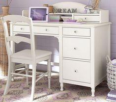 Juliette Storage Desk & Hutch