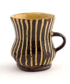 17th century staffordshire slipware mug....beautiful!