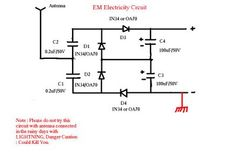The original idea of this circuit is from Nikola Tesla, radiant energy from cosmic rays, This circuit will give you electricity from thin .