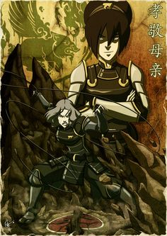 Avatar the Last Air Bender - Toph & Lin Bei Fong - Honor Thy Mother by ~jeftoon01 on deviantART