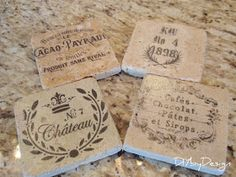 DIY by Design: Tumbled Marble Coaster Tutorial