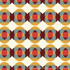 geometric : 'Good Vibrations' surface pattern design by Veronica Galbraith   Pitter Pattern