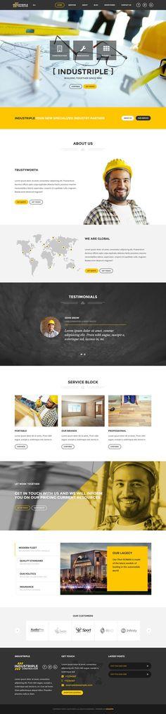 Industriple - Multi Industrial Wordpress Theme #webdesign #website Download: http://themeforest.net/item/industriple-multi-industrial-wordpress-theme/12142283?ref=ksioks
