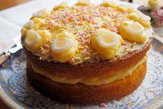 Lavender and Lovage | Cake, Cake, Cake……Fresh Orange Layer Cake with Citrus Curd Buttercream | https://www.lavenderandlovage.com