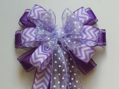 Orchid Purple White Wedding Bow Easter by SimplyAdornmentsss, $12.99