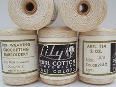 Vintage label notions string