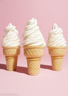 Cold Vanilla Ice Cream Cone....sweet summertime treats