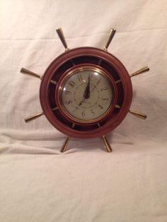 gtc nautical electric clock general electric works clocks vintage