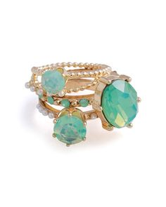 Mint Julep Ring Stack ++