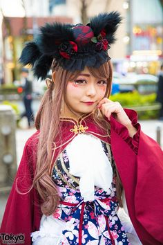 "Tokyo Fashionさんのツイート: ""Harajuku lolita Rumina w/ Gothic Holic cat ears, Dreaming Drop JSK, MR Corset & Metamorphose temps de fille #原宿 https://t.co/HnYohsYpfG https://t.co/rod8h63p4C"""