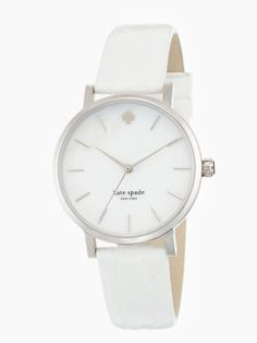 metro- perfect Summer time white watch- Kate Spade