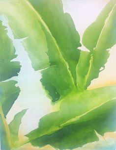 banana leafs acrylic